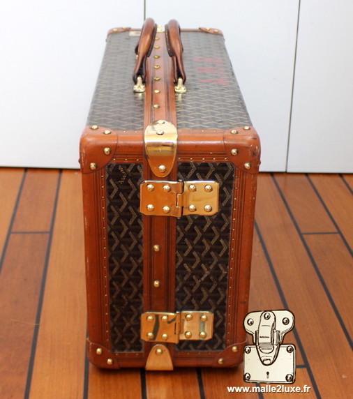 valise a double poignée cuir goyard