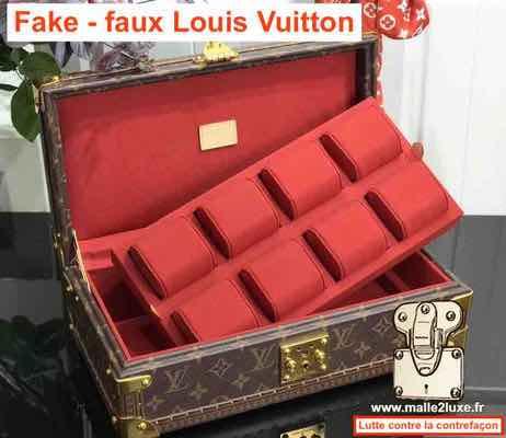 fausse boite a bijoux pour montre Louis Vuitton