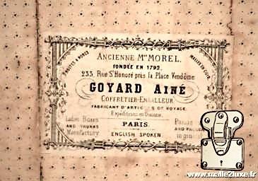 ancienne étiquette malle goyard