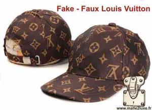 217870bfebf2 ... casquettes Louis Vuitton sont donc contrefaites. Il faut donc  déterminer le modèle que l on a entre les mains.