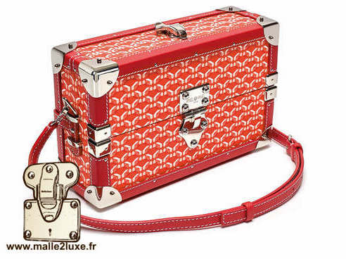mini malle sac a main tendance it trunk pinel & pinel rouge