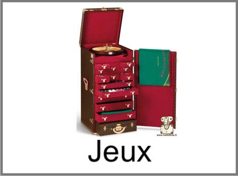 Malle Louis Vuitton pour jeux et games