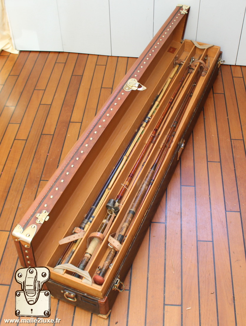 Malle Louis Vuitton canne à pêche collection exceptionnelle