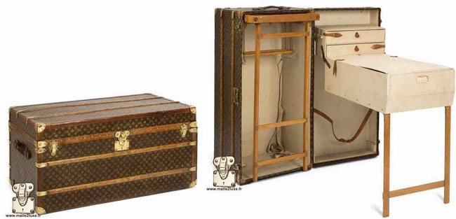 Malle a table vuitton trunk ancienne