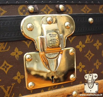 Louis Vuitton patent filing old trunk lock brass polish