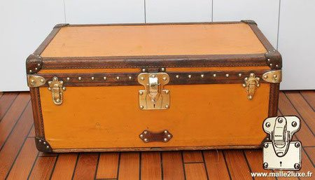 malle cabine louis vuitton 1910 vuittonite jaune