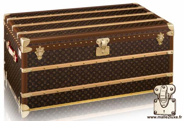 Louis Vuitton 6-groove lock bisten suitcase trunk courrier mail