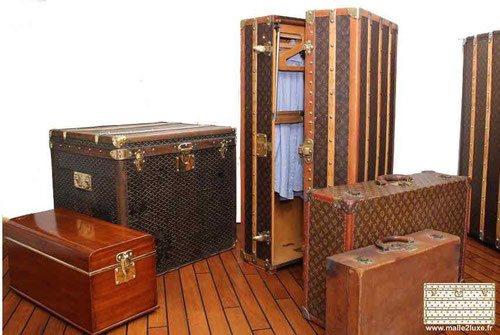 idée décoration malle vintage vuitton