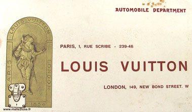 Louis Vuitton 1 rue du scribe automobile department