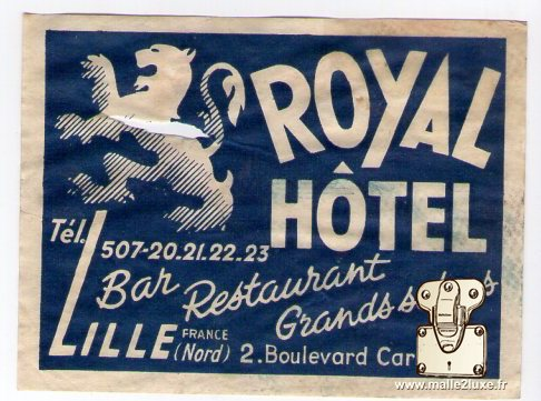 Label hotel royal hotel lille louis vuitton malle