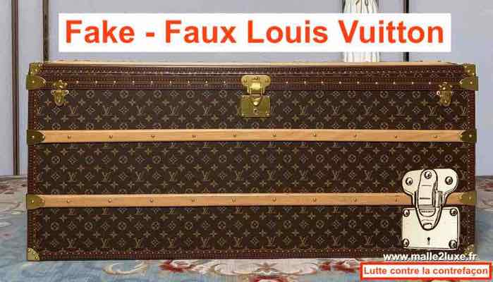 malle courrier Louis Vuitton contrefacon chinoise
