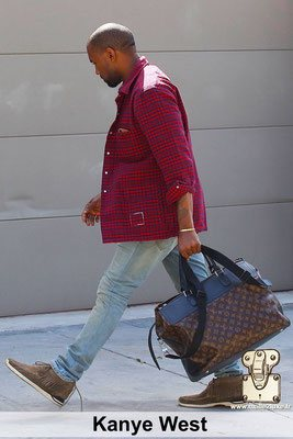 Kanye west aime les malles louis vuitton