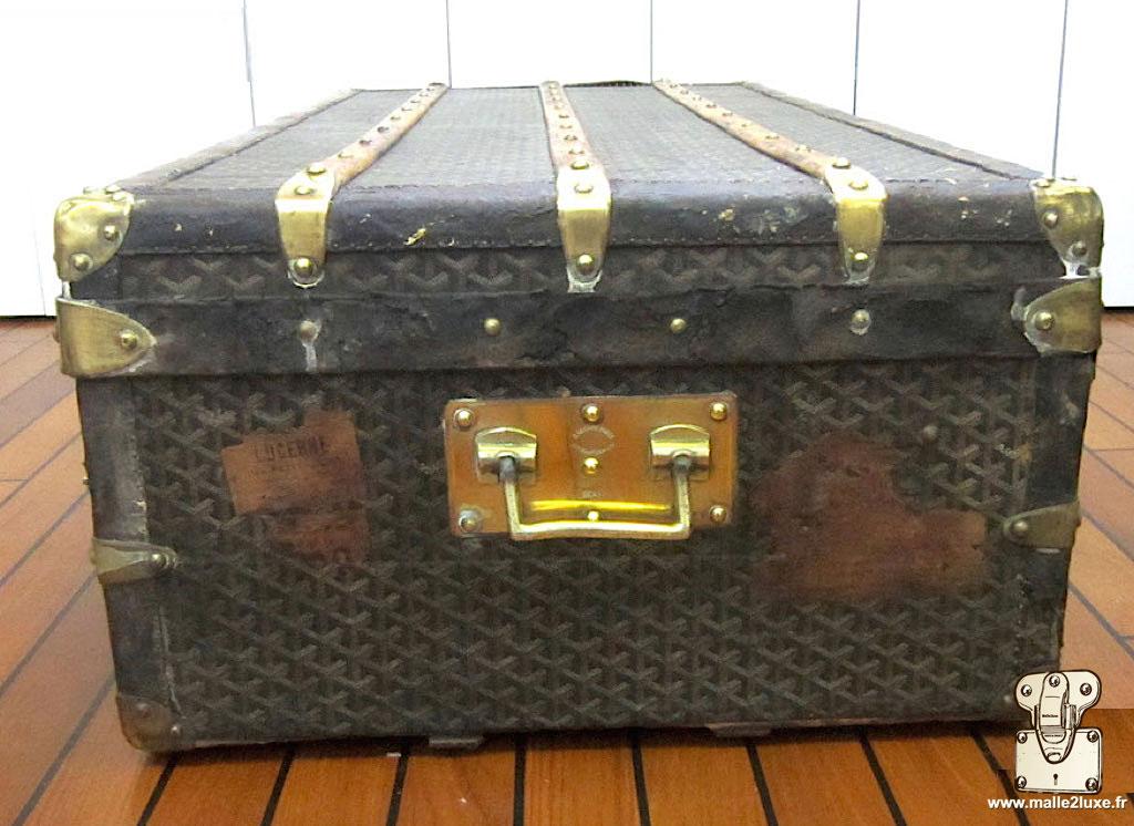 vintage goyard cabin trunk handle