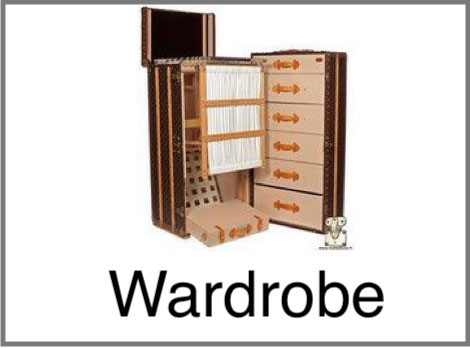 malle armoire wardrobe Louis vuitton