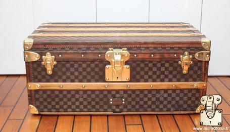 qualité et finition malle louis vuitton bordure cuir et laiton