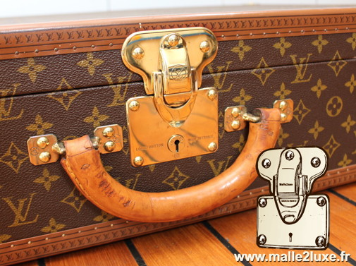 Louis Vuitton 6-groove lock bisten suitcase