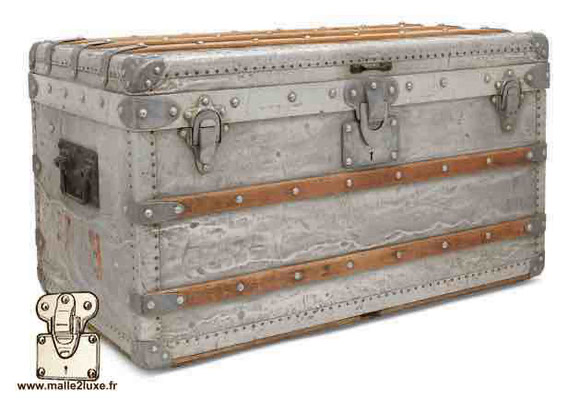 louis vuitton trunk in aluminum world record most expensive price malle2luxe Paris expert