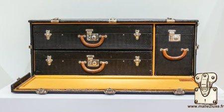 coffre a valise Louis Vuitton automobile 3 valises