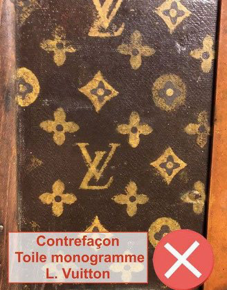 corner trunk canvas in louis vuitton painting Louis Vuitton repainted canvas