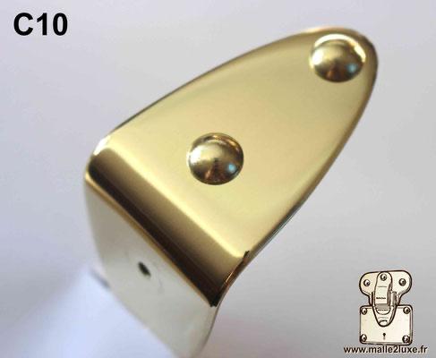 Clou tête bombée laiton massif 10 mm malle de luxe