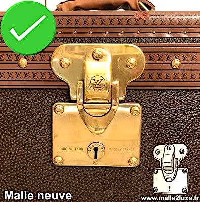 polissage d'origine malle Louis Vuitton