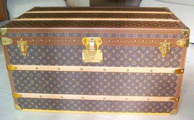 Louis Vuitton 6-groove lock bisten suitcase moderne