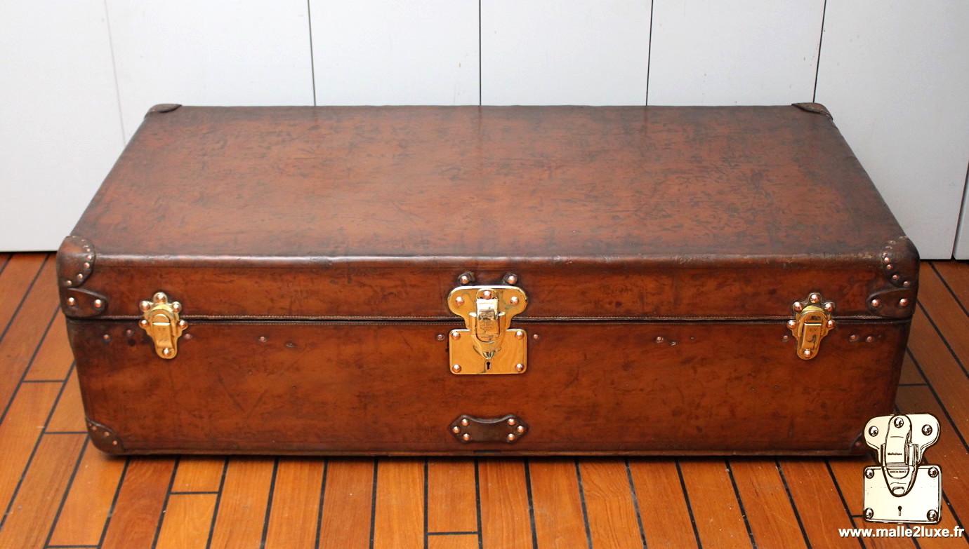 Finition qualité malle Louis Vuitton tout cuir 1er choix