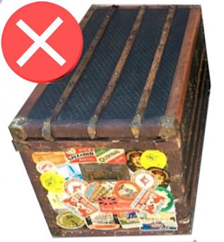 goyard label trunk very bad not original
