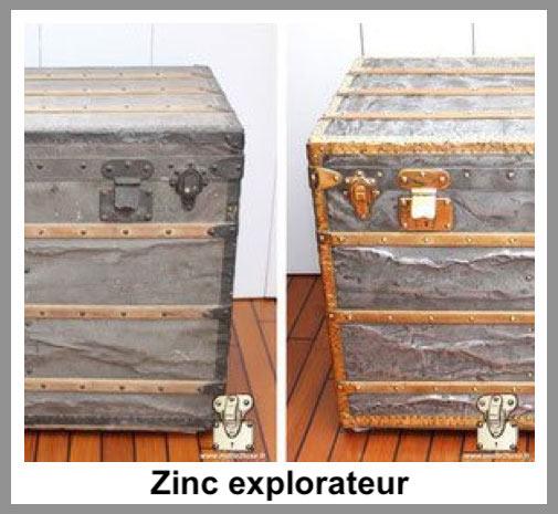 zinc explorateur Malle Louis Vuitton