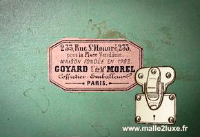 étiquette goyard morel malle ancienne expertise