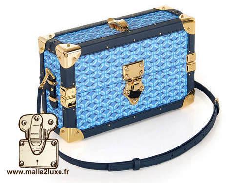 mini malle sac a main tendance it trunk pinel & pinel bleu