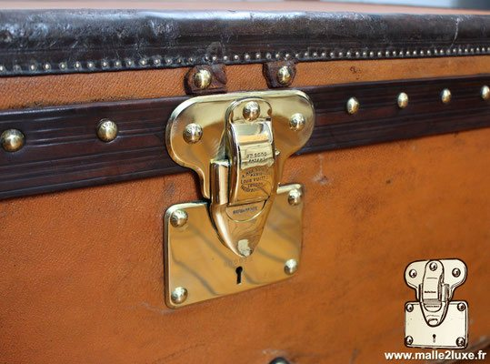 Louis Vuitton cabin trunk orange