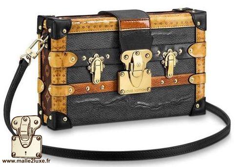 sac mini Malle Louis Vuitton zinc vintage trunk