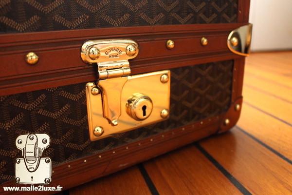 serrure en laiton massif de valise Goyard