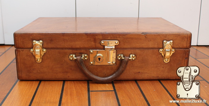 Louis Vuitton steel suitcase push lock vintage