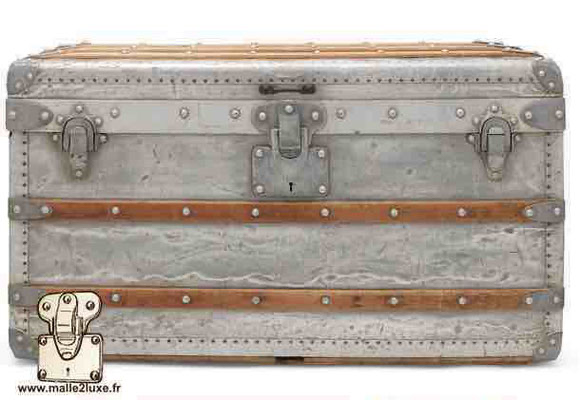 louis vuitton trunk in aluminum world record most expensive price! nice