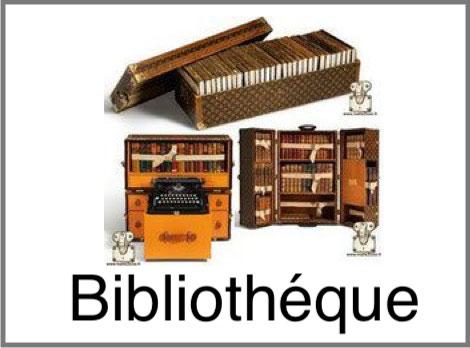 Malle bibliothéque livre Louis Vuitton