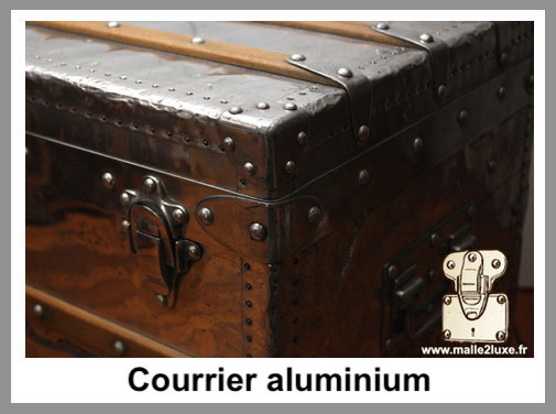 courrier aluminium malle louis vuitton
