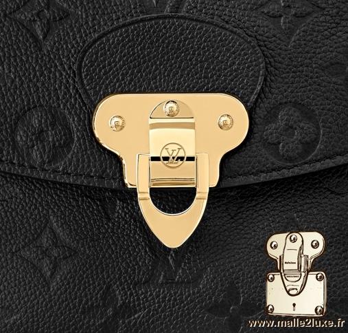 Serrure sac georges Vuitton noir