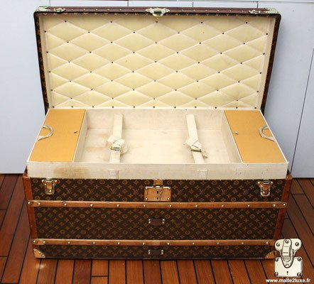 malle courrier louis vuitton 1913 ouverte