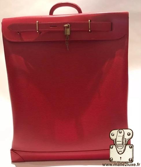 Steamer bag Louis Vuitton cuir epi rouge