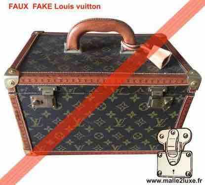 recognize counterfeit Louis Vuitton vanity