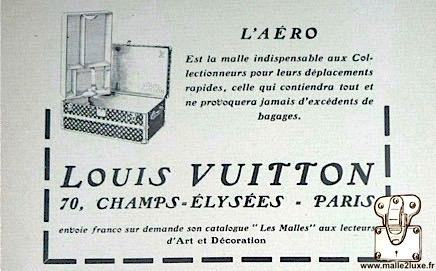 malle aéro Louis Vuitton 70 Champs Elysées paris