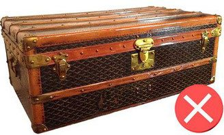 coin malle corner trunk goyard varnish condemned trunk cabin bad en