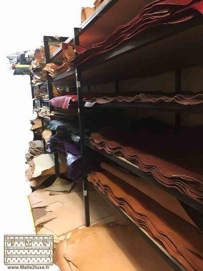 Fabrication de poignée en cuir Louis Vuitton cousu main trunk rare ancienne 1920