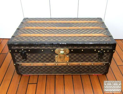 malle louis vuitton damier pochoir ancien