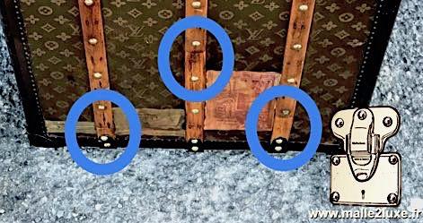 restauration d'une malle la pire restauration que l'on a vu en coin Louis Vuitton