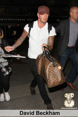 David beckham aime les malles louis vuitton