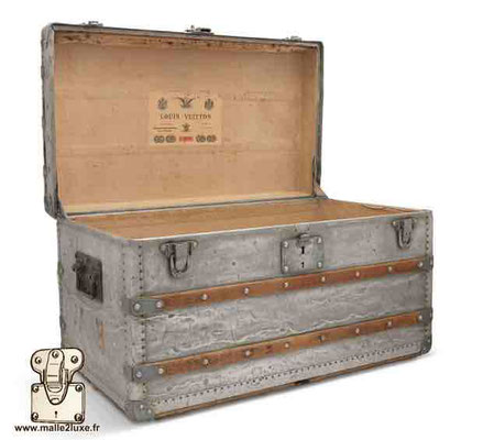 louis vuitton trunk in aluminum world record most expensive price!