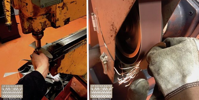Fabrication usinage piece en laiton ou acier malle louis vuitton et goyard